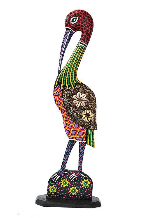 """Статуэтка """"Цапля"""" , 51 х 18 см., дерево (Индонезия)"""
