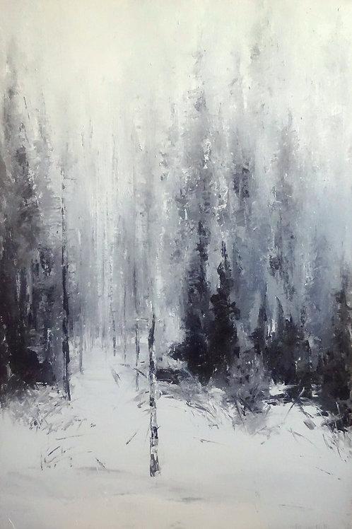 """Картина """"Хрустальный лес"""", 90 х 60 см, холст, масло"""
