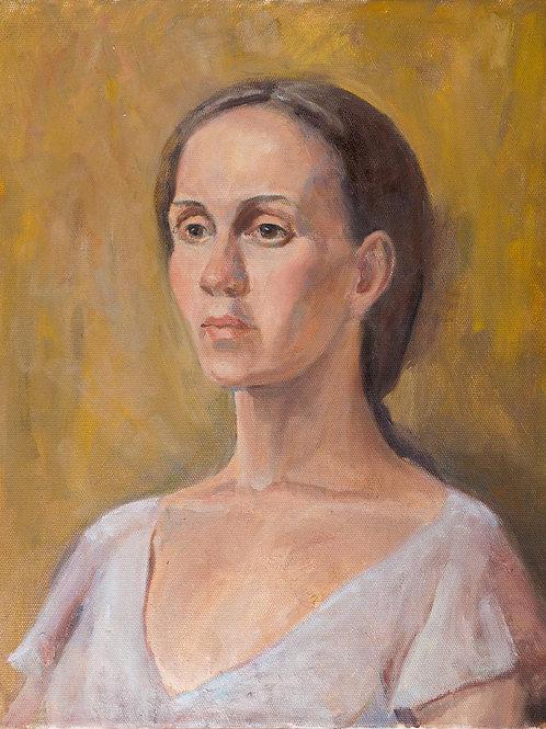 """Картина """"Портрет Ксении"""", 50 х 40 см, холст, масло"""