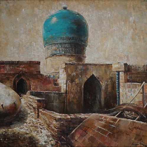 """Картина """"Самарканд, Шахи-Зида"""", 100х100, холст, масло"""