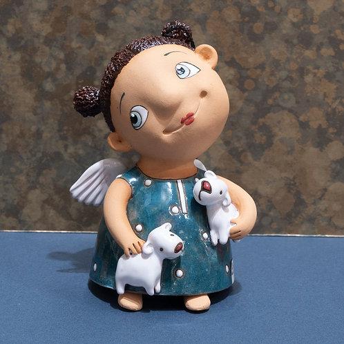 """Колокольчик """"Ангелочек"""", 14 см, керамика"""