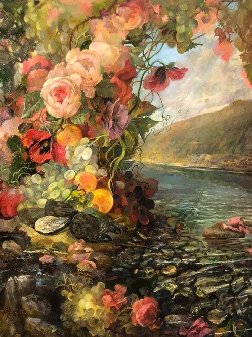 """Картина """"Розы крыма """", 60 х 65 см, холст, масло"""