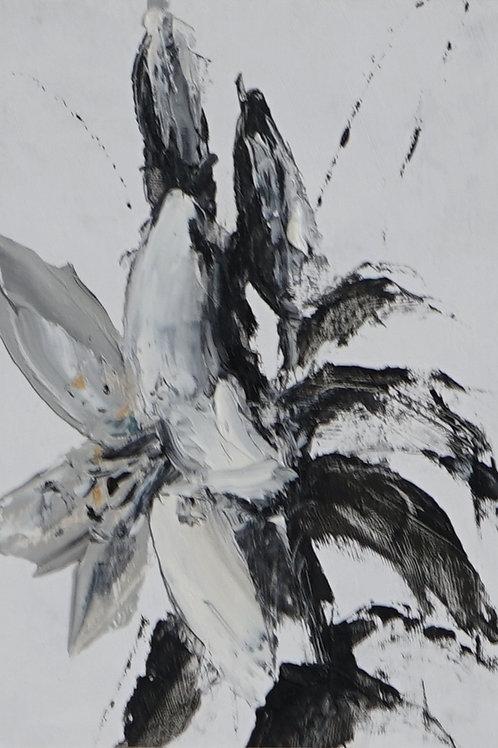 """Картина """"Три белых лилии"""", 20 х 15 см, картон, масло"""