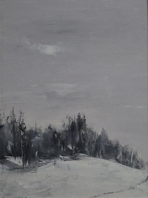 """Картина """"Зимушка-зима"""", 40 х 30 см, холст, масло"""