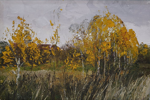 "Картина ""Осень"", 20х30, холст, масло"