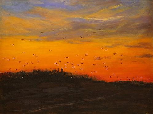 """Картина """"Ночь"""", 60х80, холст, масло"""