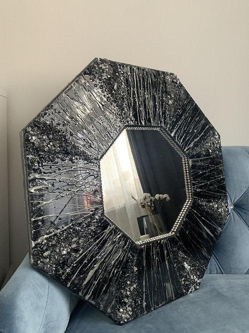 Зеркало «Ночное озеро», д=60 см, зеркальный элемент д=28 см