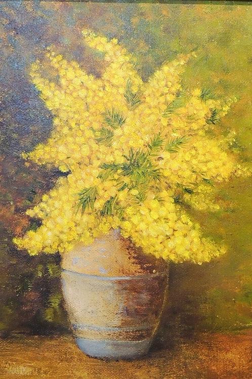 """Картина """"Мимозы"""", 35 х 25 см, холст, масло"""