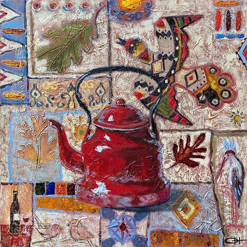 "Картина ""Сны кувшина Алладина"", 50 х 50 см, холст, масло"