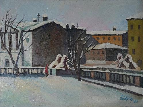 """Картина """"Зимний пейзаж"""", 80 х 60 см., холст, масло"""