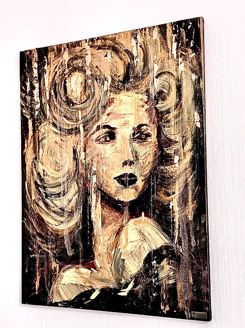 Картина «Городские блики», 60 х 80 см, акрил, смола