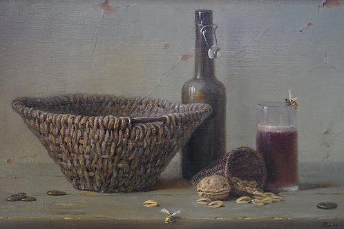 """Картина """"Бокал темного пива"""", 30х50, холст, масло"""