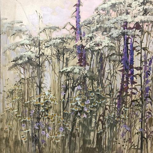 """Картина """"Разнотравье"""", 90 х 90см, масло, холст"""