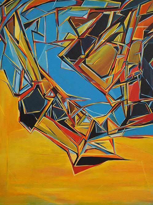 """Картина """"Хатхор"""", 50х40, холст, акрил"""
