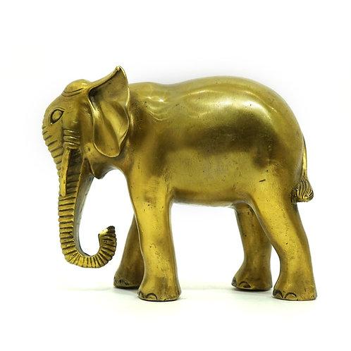 "Скульптура ""Слон "", 17 х 20 см., латунь"