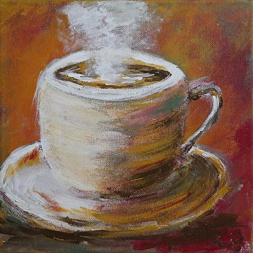 """Картина """"Кофейный аромат"""", 20х20, холст, акрил"""