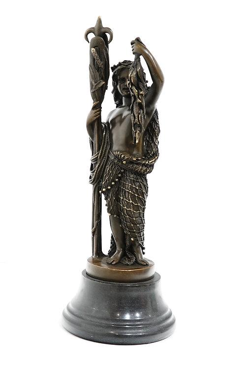 """Скульптура """"Рыбачка"""", 34 см., бронза"""