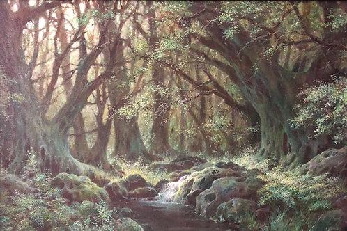 "Картина ""Лесной пейзаж"", 40 х 60 см, холст, масло"