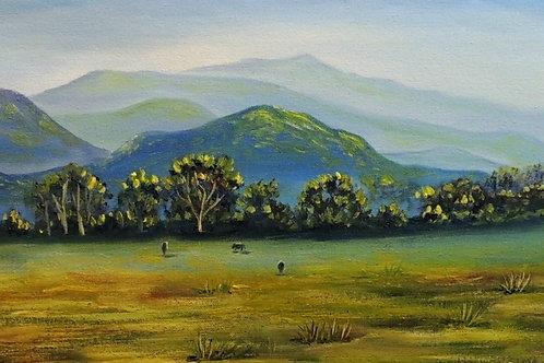 """Картина """"Горы"""", 25 х 50 см, холст, масло"""