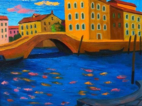 "Картина ""Венеция летом"", 80 х 68см, холст, масло"