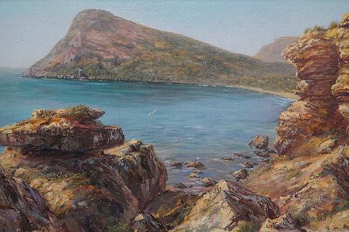 "Картина ""В бухте Нового Света"", 35 х 55 см., холст, масло"
