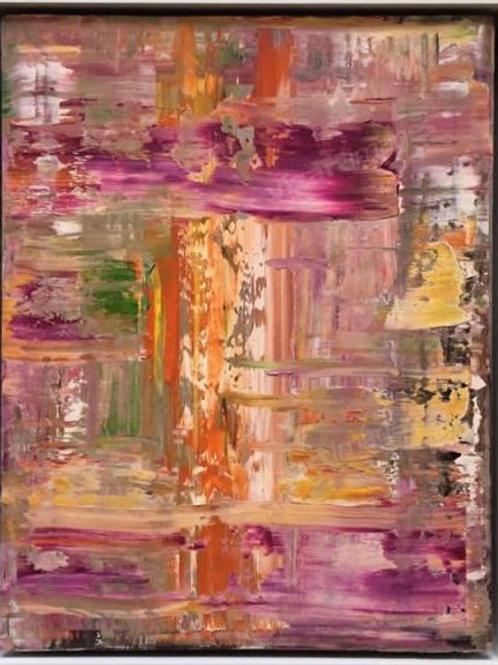 """Картина """"Абстрактная композиция"""", 50 х 40 см, дерево, масло"""
