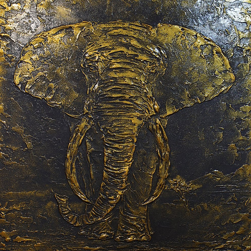 "Картина ""Золотой слон"", 64 х 75 см., холст, акрил"