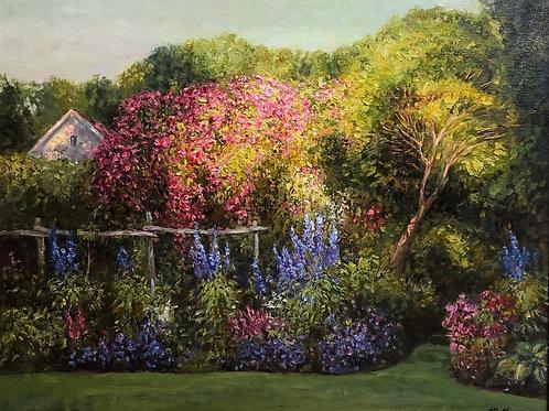 """Картина """"Английский сад"""", 50 х 60 см, холст, масло"""