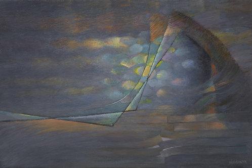 """Картина """"Две составляющие, одна касательная"""", 40 х 60 см, холст, масло"""