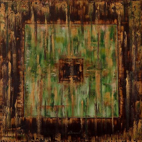 "Картина ""КвадратоМетрия"", 120 х 120 см, холст, масло"