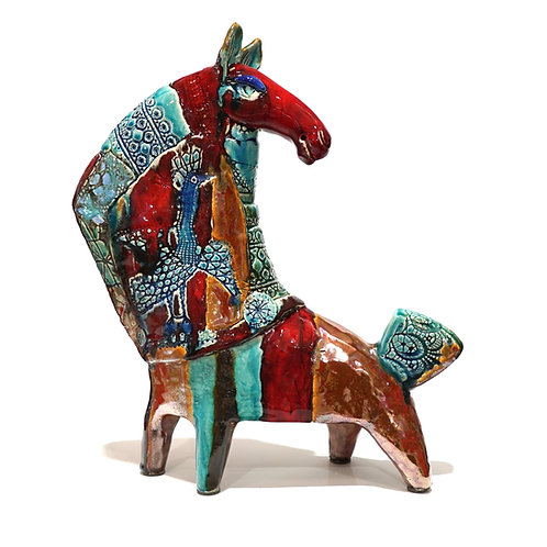 "Скульптура ""Конь"", 39 х 35 см., керамика"