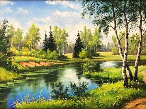 "Картина ""Лето"", 30 х 40 см, холст, масло"