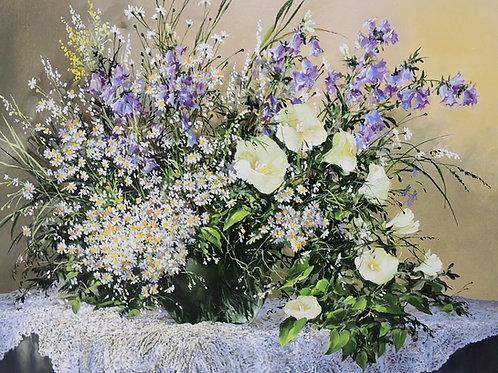 "Картина ""Полевые цветы"" 50 х 60, холст, масло"