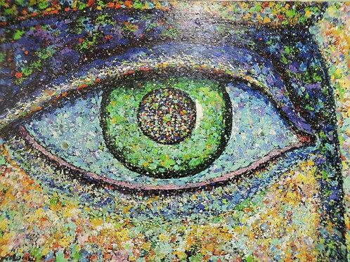 """Картина """"Глаз"""" 98 х 79 см. Холст, масло"""