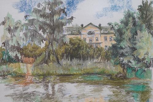 """Картина """"Музей"""", 57х45, бумага, пастель"""