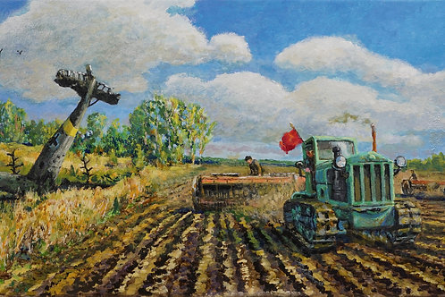 """Картина """"Победная весна"""", 30х60, холст, масло"""