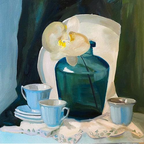 """Картина """"Магнолия"""", 50 х 50 см, холст, масло"""