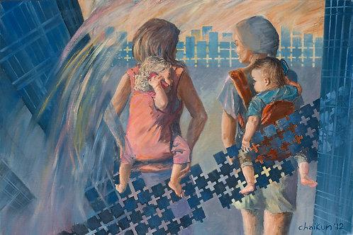 """Картина """"Дети 2000-х"""", 40 х 60 см, холст, масло"""