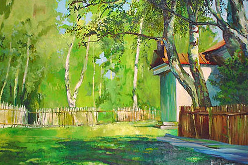 Копия картины «Август», И. Левитан, 70 х 45 см, холст, масло