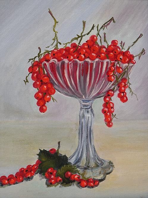 "Картина ""Смородина"", 30х20, холст, масло"