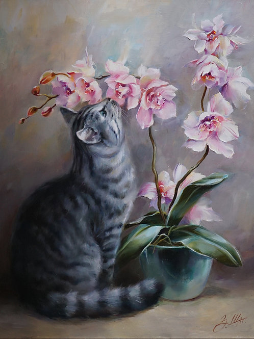 "Картина ""Новый аромат"", 60 х 50 см, холст, масло"