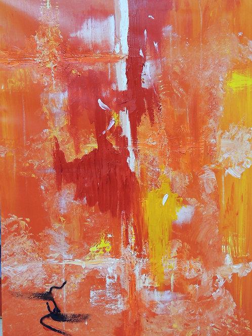 """Картина """"Red"""", холст, масло, 60 х 80"""