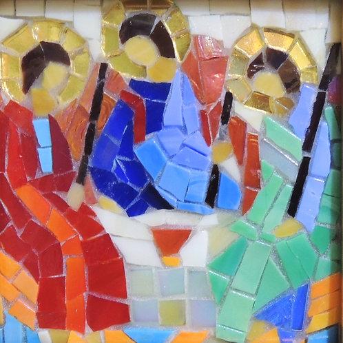 """Картина """"Рублев. Икона троица"""", мозаика 10 х 10"""