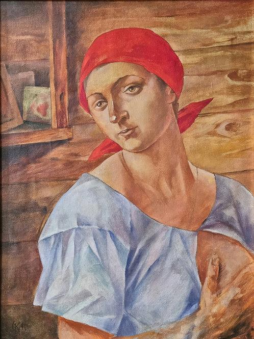 """Картина """"Пролетарская Мадонна"""", 64 х 48см, холст, масло."""