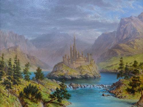 """Картина """"Замок"""", 57 х 75 см, холст, масло"""