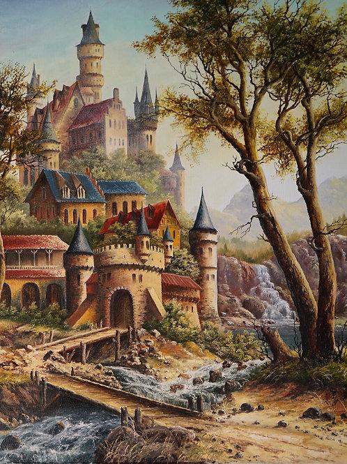 """Картина """"Замок"""", 65х54, холст, масло"""