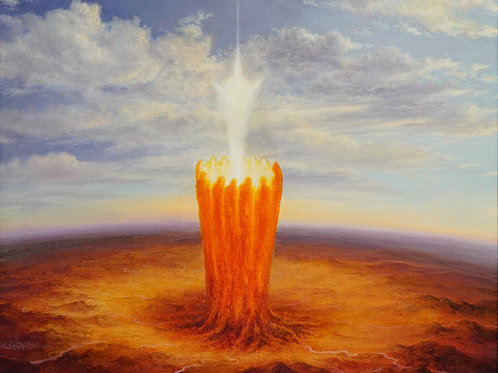 """Картина """"Светоч"""", 60 х 70 см., холст, масло"""