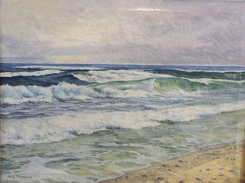 """Картина """"Море"""", холст, масло, 80 х 59"""