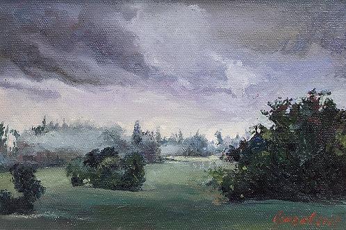 """Картина """"После дождя"""", 20х30, картон, масло"""
