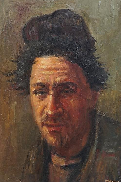 """Картина """"Портрет чабана"""", 60 х 45 см, холст, масло"""